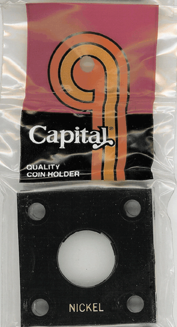 Nickel Capital Plastics Coin Holder 144 Type Black 2x2 Nickel Capital Plastics Coin Holder 144 Type Black, Capital, 144