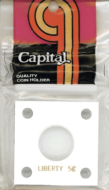 Liberty Nickel Capital Plastics Coin Holder 144 White 2x2 Liberty Nickel Capital Plastics Coin Holder 144 White, Capital, 144
