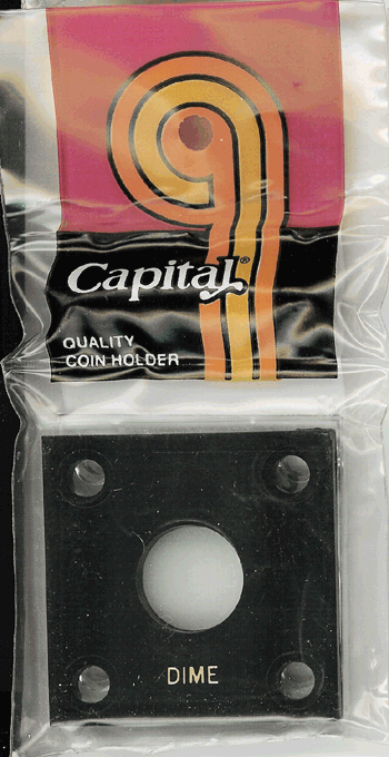Dime Capital Capital Plastics Coin Holder 144 Black 2x2 Dime Capital Capital Plastics Coin Holder 144 Black, Capital, 144