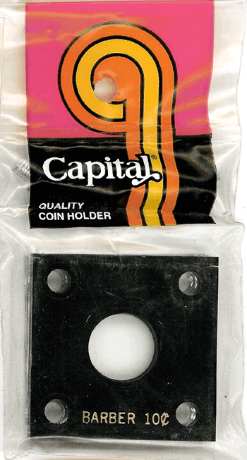 Barber Dime Capital Plastics Coin Holder 144 Black 2x2 Barber Dime Capital Plastics Coin Holder 144 Black, Capital, 144
