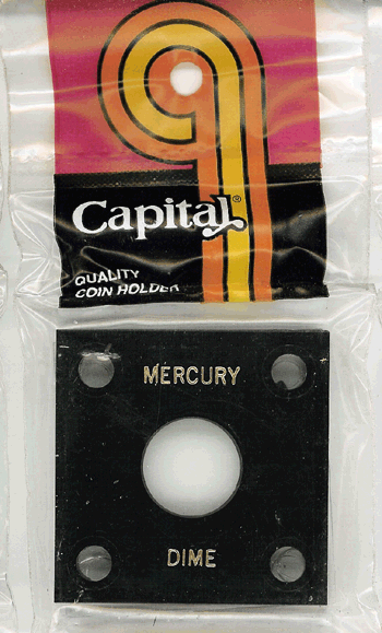 Mercury Dime Capital Plastics Coin Holder 144 Black 2x2 Mercury Dime Capital Plastics Coin Holder 144 Black, Capital, 144
