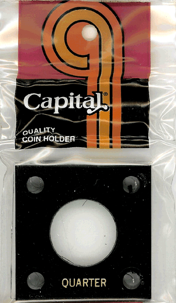 Quarter Capital Plastics Coin Holder 144 Black 2x2 Quarter Capital Plastics Coin Holder 144 Black, Capital, 144