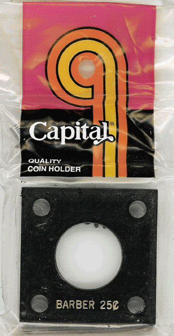 Barber Quarter Capital Plastics Coin Holder 144 Black 2x2 Barber Quarter Capital Plastics Coin Holder 144 Black, Capital, 144