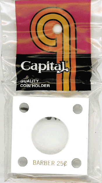 Barber Quarter Capital Plastics Coin Holder 144 White 2x2 Barber Quarter Capital Plastics Coin Holder 144 White, Capital, 144
