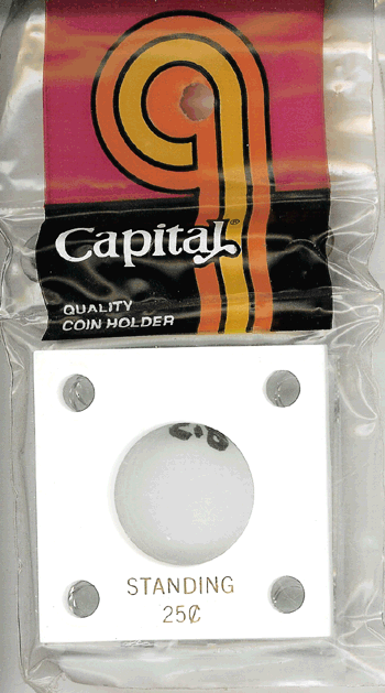Standing Liberty Quarter Capital Plastics Coin Holder 144 White 2x2 Standing Liberty Quarter Capital Plastics Coin Holder 144 White, Capital, 144