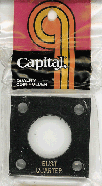 Bust Quarter Capital Plastics Coin Holder 144 Black 2x2 Bust Quarter Capital Plastics Coin Holder 144 Black, Capital, 144
