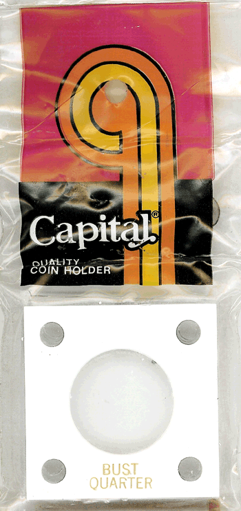 Bust Quarter Capital Plastics Coin Holder 144 White 2x2 Bust Quarter Capital Plastics Coin Holder 144 White, Capital, 144