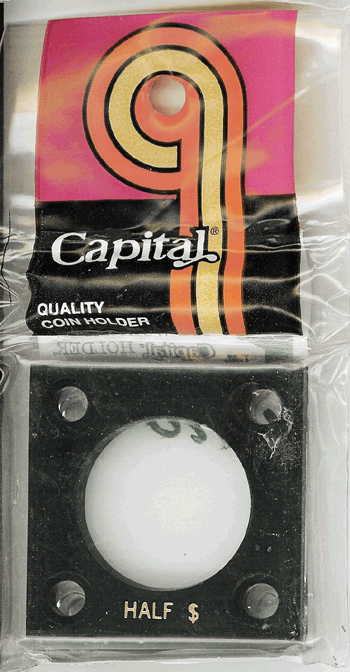 Half Dollar Capital Plastics Coin Holder 144 Black 2x2 Half Dollar Capital Plastics Coin Holder 144 Black, Capital, 144