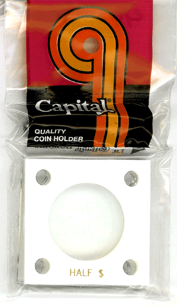 Half Dollar Capital Plastics Coin Holder 144 White 2x2 Half Dollar Capital Plastics Coin Holder 144 White, Capital, 144