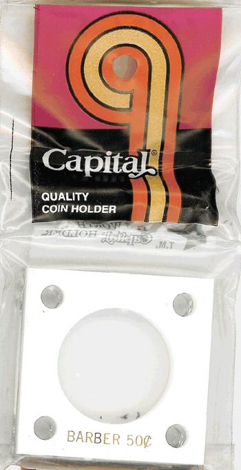 Barber Half Dollar Capital Plastics Coin Holder 144 White 2x2 Barber Half Dollar Capital Plastics Coin Holder 144 White, Capital, 144