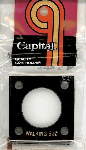 Walking Half Dollar Capital Plastics Coin Holder 144 Black 2x2 Walking Half Dollar Capital Plastics Coin Holder 144 Black, Capital, 144