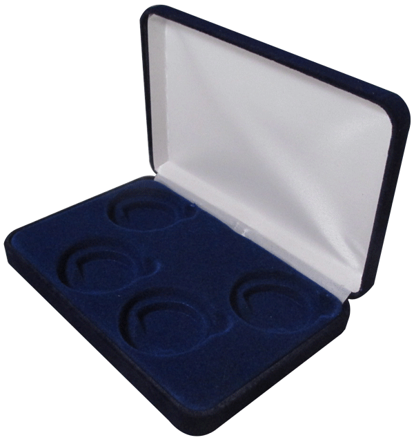 Velvet Coin Display Box Holds 4L Capsules