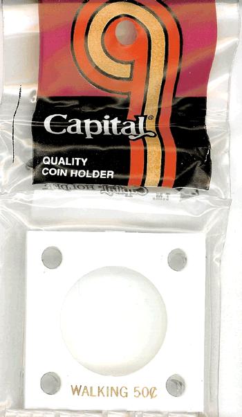 Walking Half Dollar Capital Plastics Coin Holder 144 White 2x2 Walking Half Dollar Capital Plastics Coin Holder 144 White, Capital, 144