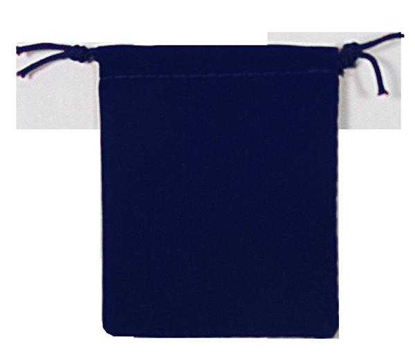 Velvet Drawstring Pouch - 2.75x3.25 Navy Blue