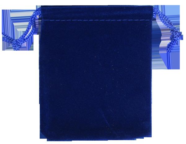 Velvet Drawstring Pouch - 2.75x3.25 Royal Blue