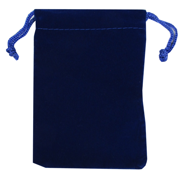 Velvet Drawstring Pouch - 3x4.25 Royal Blue