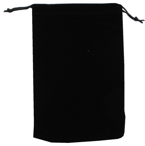 Velvet Drawstring Pouch - 5x7.5 Black