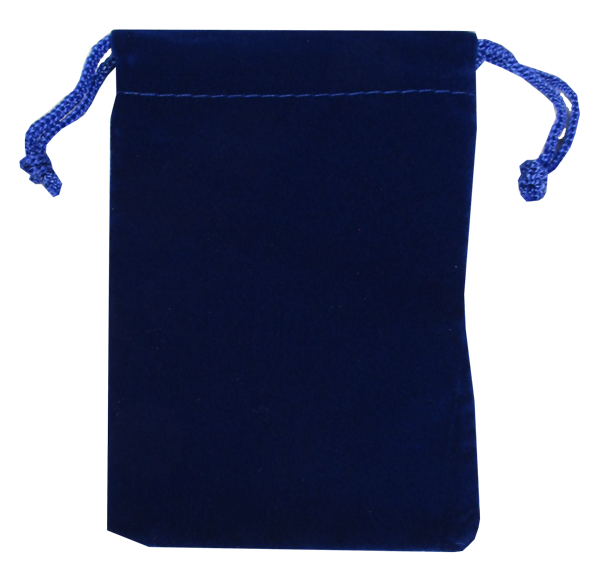 Velvet Drawstring Pouch - 5x7.5 Royal Blue