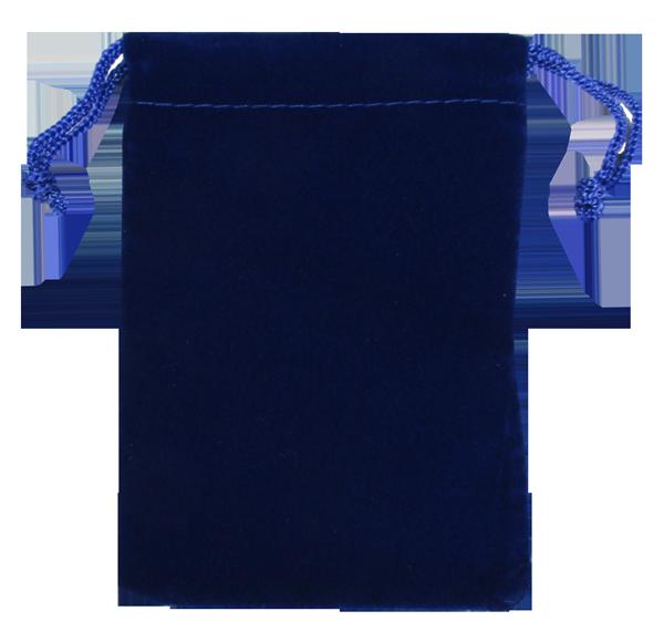 Velvet Drawstring Pouch - 5x7.5 Royal Blue