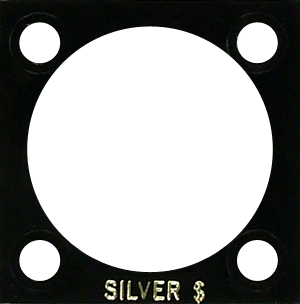 Silver Dollar Capital Plastics Coin Holder 144 Black 2x2 Silver Dollar Capital Plastics Coin Holder 144 Black, Capital, 144