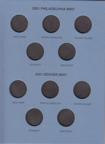 2 Whitman Official Statehood Quarter Coin Folders 1999-2009 Full Color 60 Slots