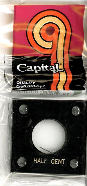 Cent Black Capital  2x2 Coin Holder