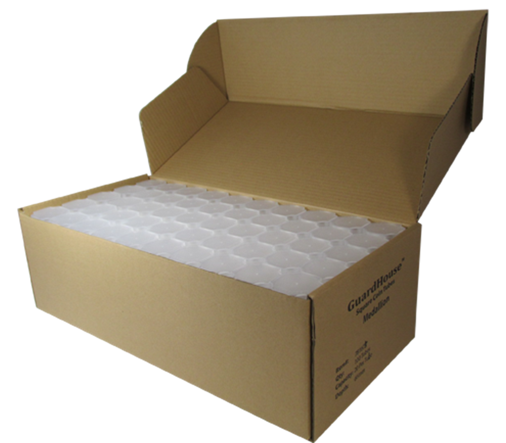 Guardhouse Large Dollar Coin Tubes 100 Pack