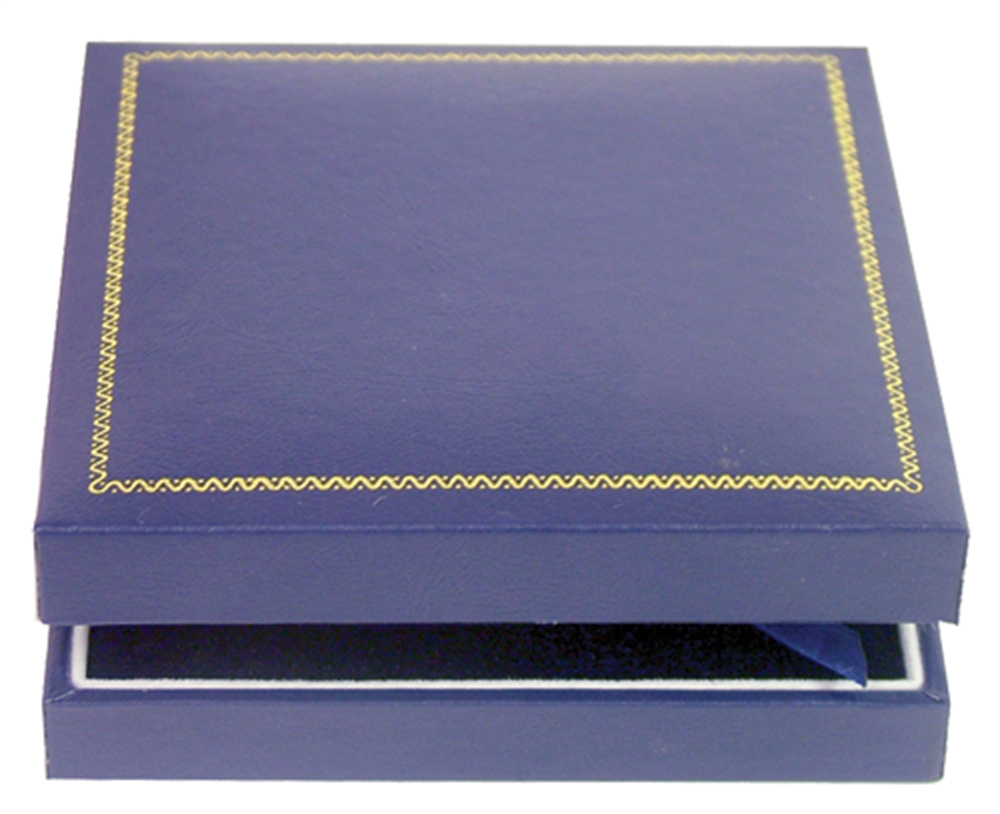 Guardhouse Leatherette Coin Display Box with Gold Trim