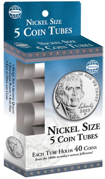 HE Harris Nickel Coin Tube Five-Pack