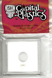 Dime Capital Plastics Coin Holder Krown White 2.5x2.5 Dime Capital Plastics Coin Holder Krown White, Capital, Krown