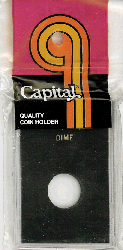 Dime Capital Plastics Coin Holder Caps Black 2x3 Dime Capital Plastics Coin Holder Caps Black, Capital, Caps