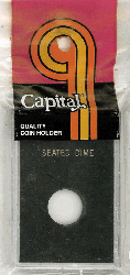 Seated Dime Capital Plastics Coin Holder Caps Black 2x3 Seated Dime Capital Plastics Coin Holder Caps Black, Capital, Caps