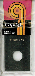 Barber Dime Capital Plastics Coin Holder Caps Black 2x3 Barber Dime Capital Plastics Coin Holder Caps Black, Capital, Caps