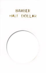 Barber Half Dollar Capital Plastics Coin Holder Caps White 2x3 Barber Half Dollar Capital Plastics Coin Holder Caps White, Capital, Caps