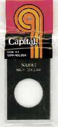 Walking Liberty Half Dollar Capital Plastics Coin Holder Caps Black 2x3 Walking Liberty Half Dollar Capital Plastics Coin Holder Caps Black, Capital, Caps