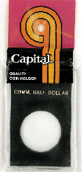 Commemorative Half Dollar Capital Plastics Coin Holder Caps Black 2x3 Commemorative Half Dollar Capital Plastics Coin Holder Caps Black, Capital, Caps