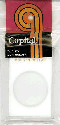 Morgan Dollar Capital Plastics Coin Holder Caps White 2x3 Morgan Dollar Capital Plastics Coin Holder Caps White, Capital, Caps