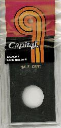 Half Cent Capital Plastics Coin Holder Caps Black 2x3 Half Cent Capital Plastics Coin Holder Caps Black, Capital, Caps