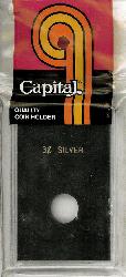 3 Cent Silver Capital Plastics Coin Holder Caps Black 2x3 3 Cent Silver Capital Plastics Coin Holder Caps Black, Capital, Caps