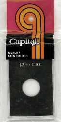 $2.50 Gold Capital Plastics Coin Holder CAPS Type Black 2x3