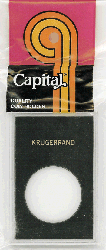 1 oz Krugerrand Capital Plastics Coin Holder Caps Black 2x3 1 oz Krugerrand Capital Plastics Coin Holder Caps Black, Capital, Caps
