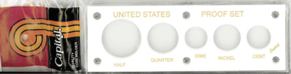 US Proof Set Capital Plastics 5 Hole White US Proof Set, Capital Plastics, 5 Hole, White, Capital, 11 White