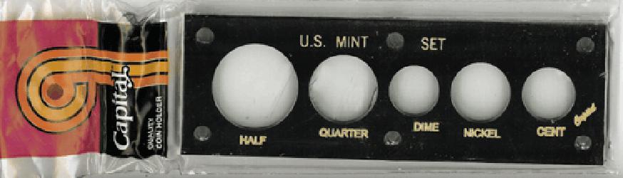 US Mint Set Capital Plastics 5 Hole Black 2x6