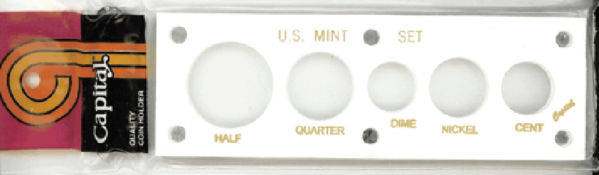 US Mint Set Capital Plastics 5 Hole White 2x6 US Mint Set Capital Plastics 5 Hole White, Capital, 11B White