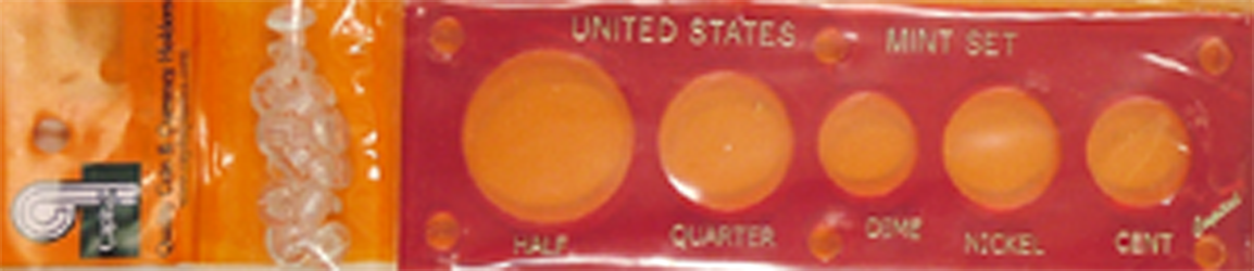 US Mint Set Capital Plastics 5 Hole Red 2x6