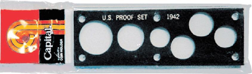 1942 US Proof Set Capital Plastics Black 1942 US Proof Set Capital Plastics Black, Capital, 411A Black