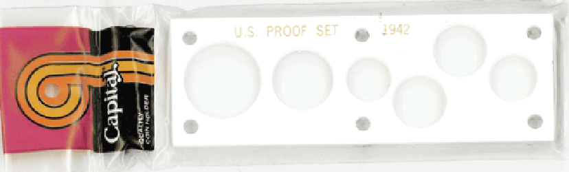 1942 US Proof Set Capital Plastics White 2x6