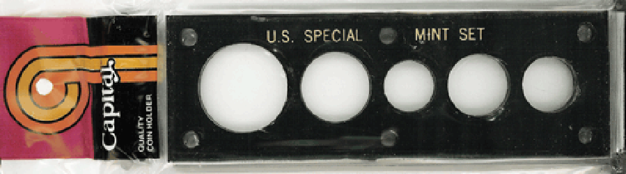US Proof Set 1960 Sm Date Capital Plastics Holder Black 2x6