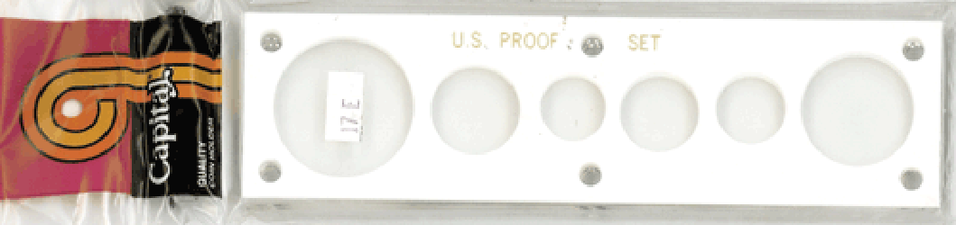 US Proof Set w/ Large Dollar Capital Plastics Holder White 2x7.5