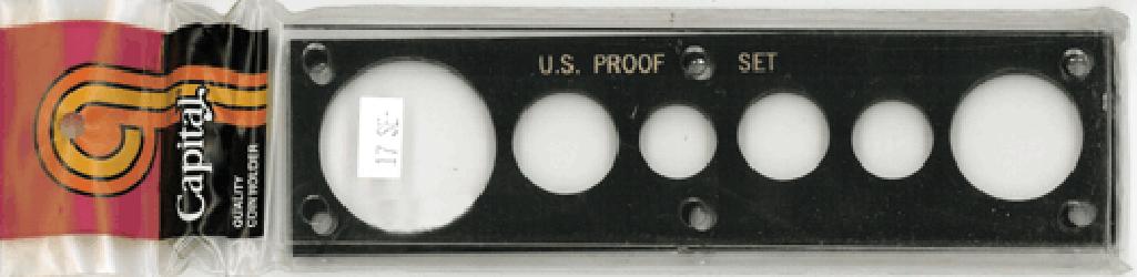 US Proof Set w/ Silver Eagle Capital Plastics Holder Black 2x7.5 US Proof Set w/ Silver Eagle Capital Plastics Holder Black, Capital, 17SE Black